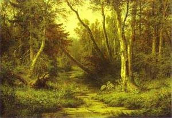 forest landscape with herons 1870 XX the russian museum st petersburg russia